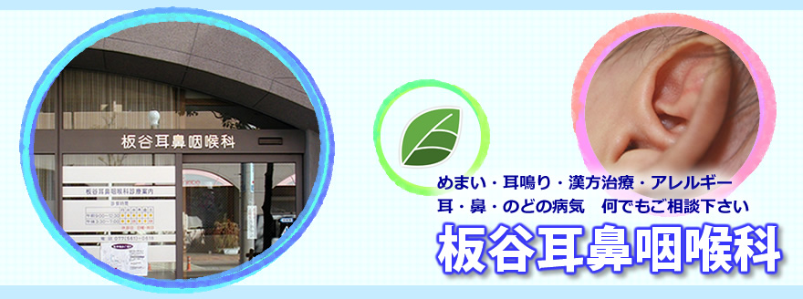 滋賀県草津市の板谷耳鼻咽喉科です。耳・鼻・のどの病気やめまい、耳鳴り等お気軽にご相談ください